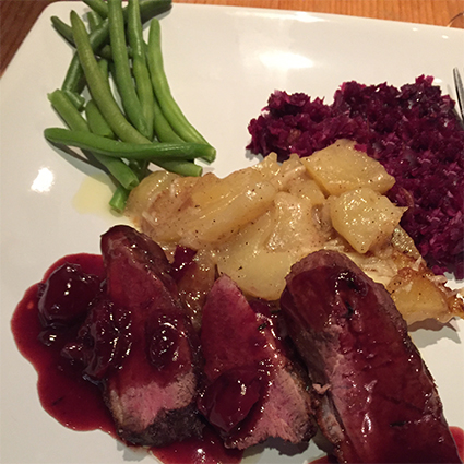 duck breast port cherry reduction