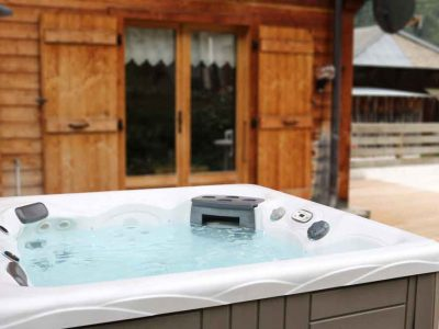 chalet outdoor hot tub