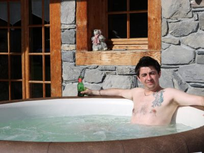 Luxury Chalets Morzine hot tub outdoor