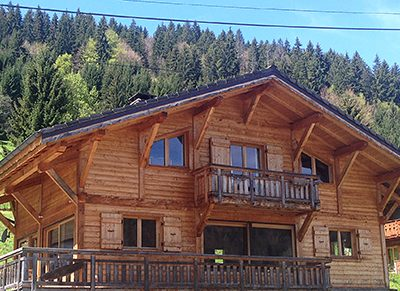 summer chalet morzine on hill side