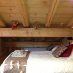 chalet daisy single bed in apex of chalet