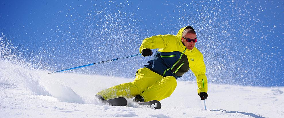 skiing morzine blue sky
