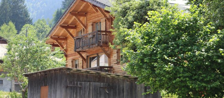 summer chalet holiday morzine chalet between trees
