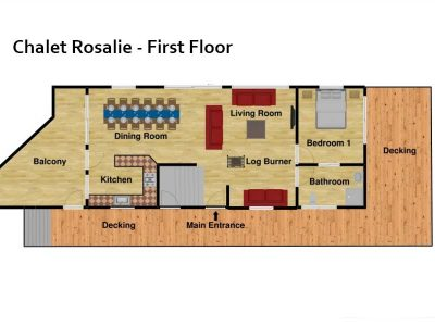 chalet Rosalie morzine floor plan first floor