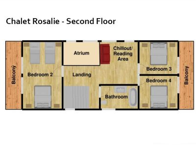 chalet Rosalie Morzine floor plan second floor