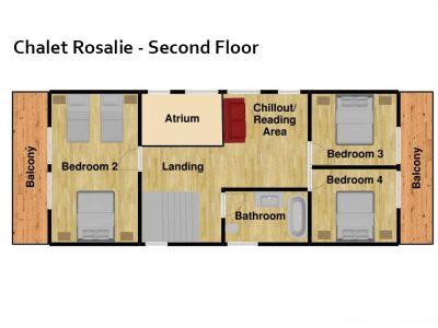 chalet Rosalie Morzine floor plan second floor