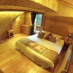 luxury ski chalet double bedroom traditional alpine wood