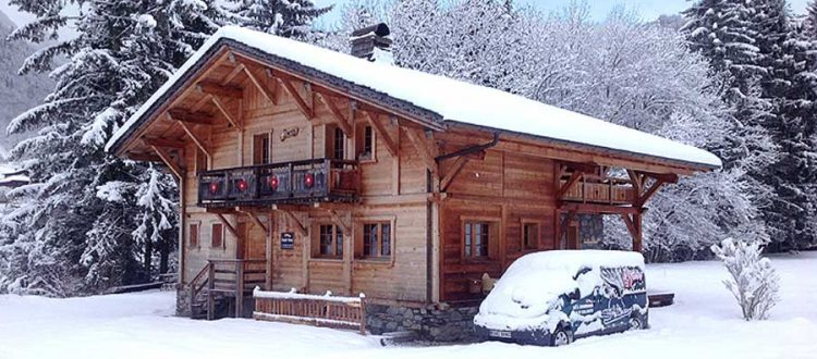 Luxury Ski Chalets Morzine snow and blue sky