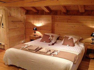 double bedroom in luxury alpine chalet