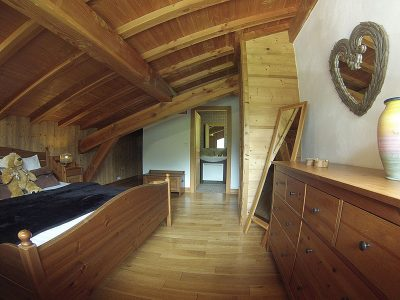 ski chalet bedroom with ensuite