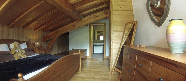ski chalet bedroom with ensuite
