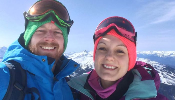 morzine chalet staff on the mountain
